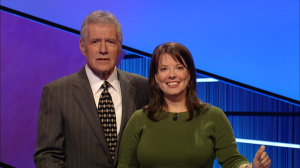 Jessamine Price was a three-time champion on Jeopardy, March 8-13, 2012.